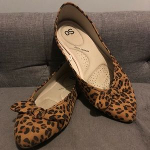 SO Shoes - Leopard print flats